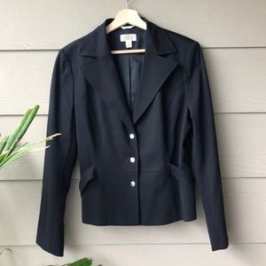 Talbots • Black Stretch Blazer Jacket